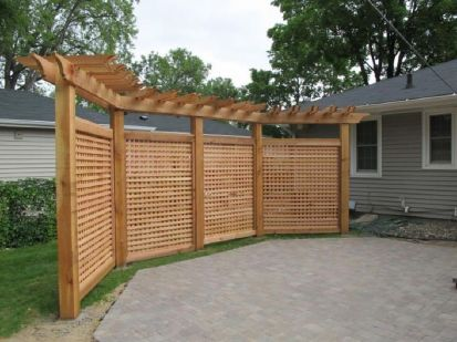 Cool Privacy Fence Wooden Design for Backyard 41