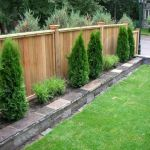 Cool Privacy Fence Wooden Design for Backyard 46