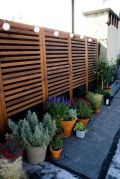 Cool Privacy Fence Wooden Design for Backyard 5