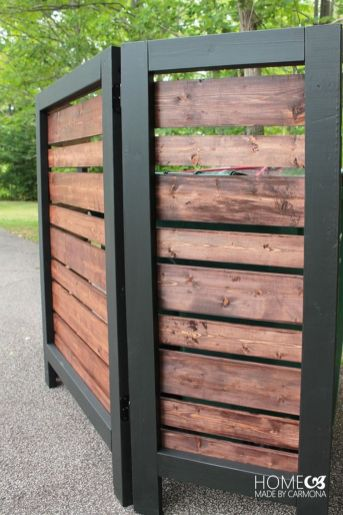 Cool Privacy Fence Wooden Design for Backyard 51