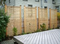 Cool Privacy Fence Wooden Design for Backyard 70
