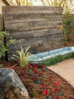 Cool Privacy Fence Wooden Design for Backyard 86