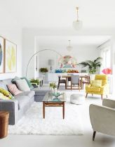 Cozy and Colorful Pastel Living Room Interior Style 12