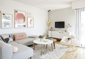 Cozy and Colorful Pastel Living Room Interior Style 8