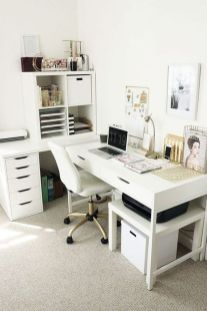 Inspiring Simple Work Desk Decorations and Setup 87