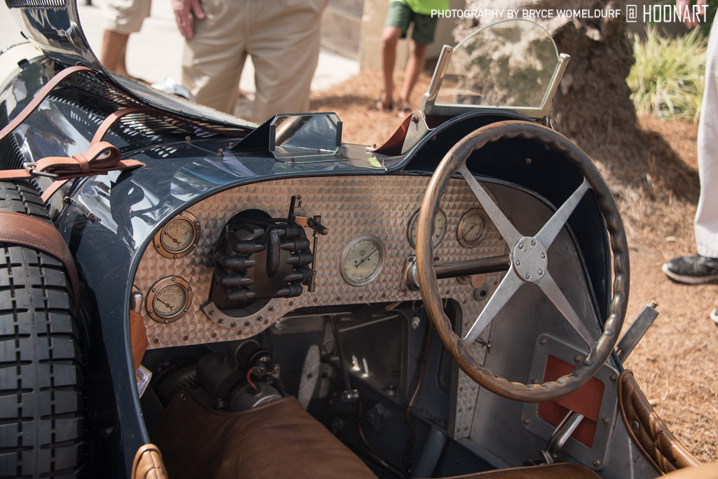 Interior of Bugatti Type 35 Pur Sang at Amelia Island