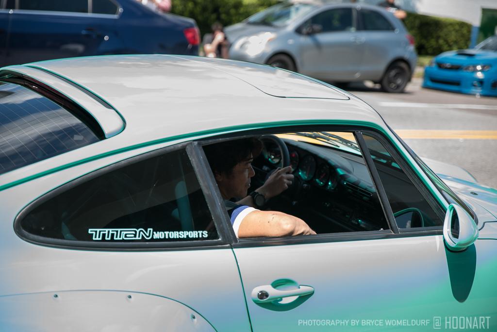Akira Nakai in the Kei Kishi 993 RWB Porsche