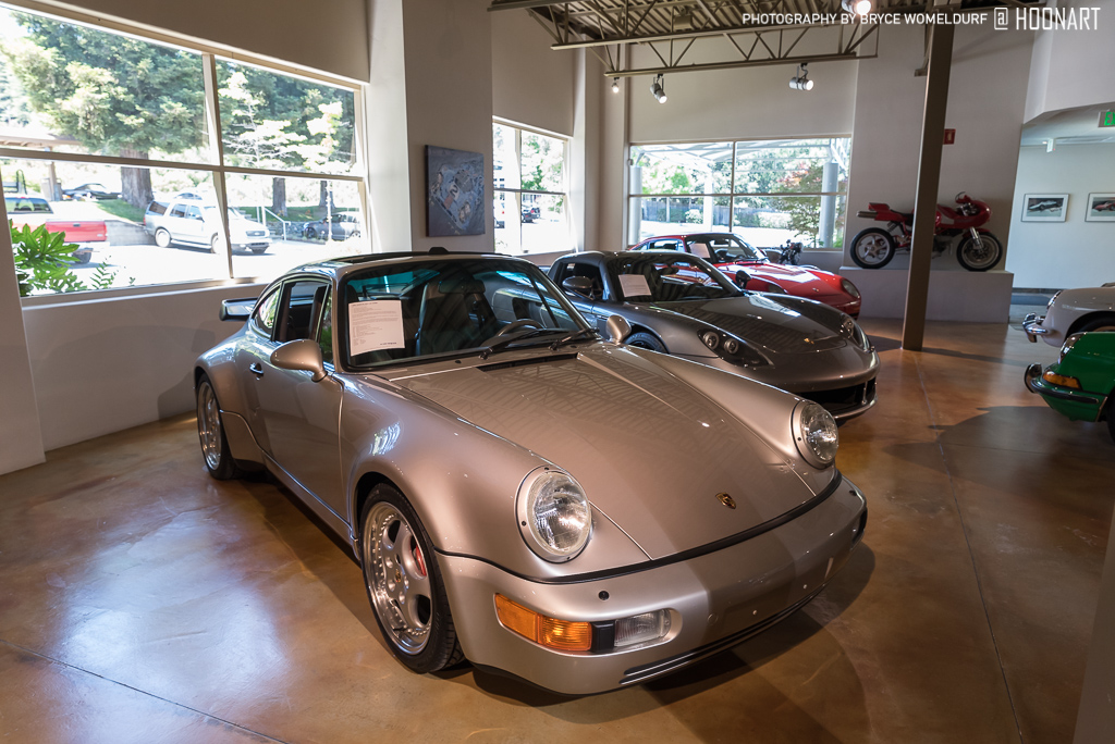 1994 Porsche 964 Turbo 3.6 next to Carrera GT and 959