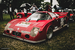 1975 Alfa Romeo T33/TT/3 Giro d'Italia Coupe. One of a kind race car as seen at the Greenwich Concours.