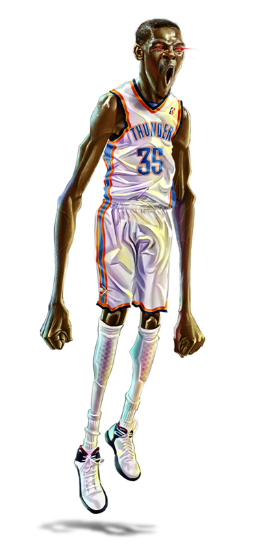 kevin durant caricature art � hooped up