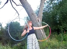 hula hoop tricks twin hoops doubles