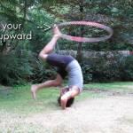 foot hooping forward roll hostels hula hoop tricks