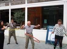 weighted hula hoop hula hooping old man