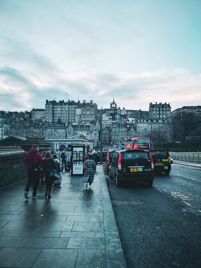 Busy street in Edinburgh - How_To_Prepare_For_A_House_Sit_Including_Essential_Packing_List_By_House_Sitters_Hoopla_Adventures