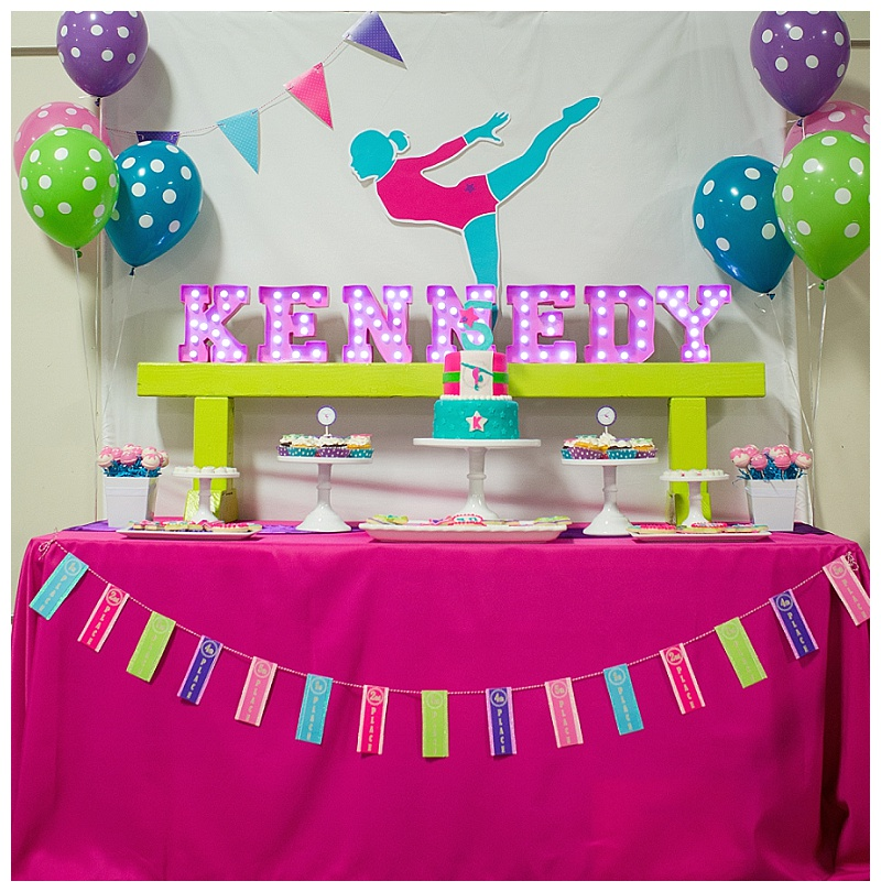 a bright colorful gymnastics birthday party hoopla events krista o byrne