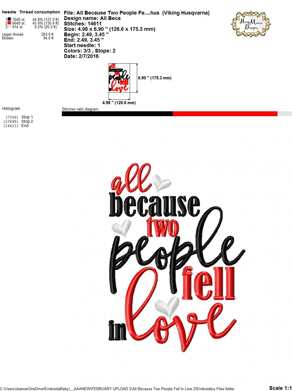 Download All Because Two People Fell In Love 2 - Embroidery and ...