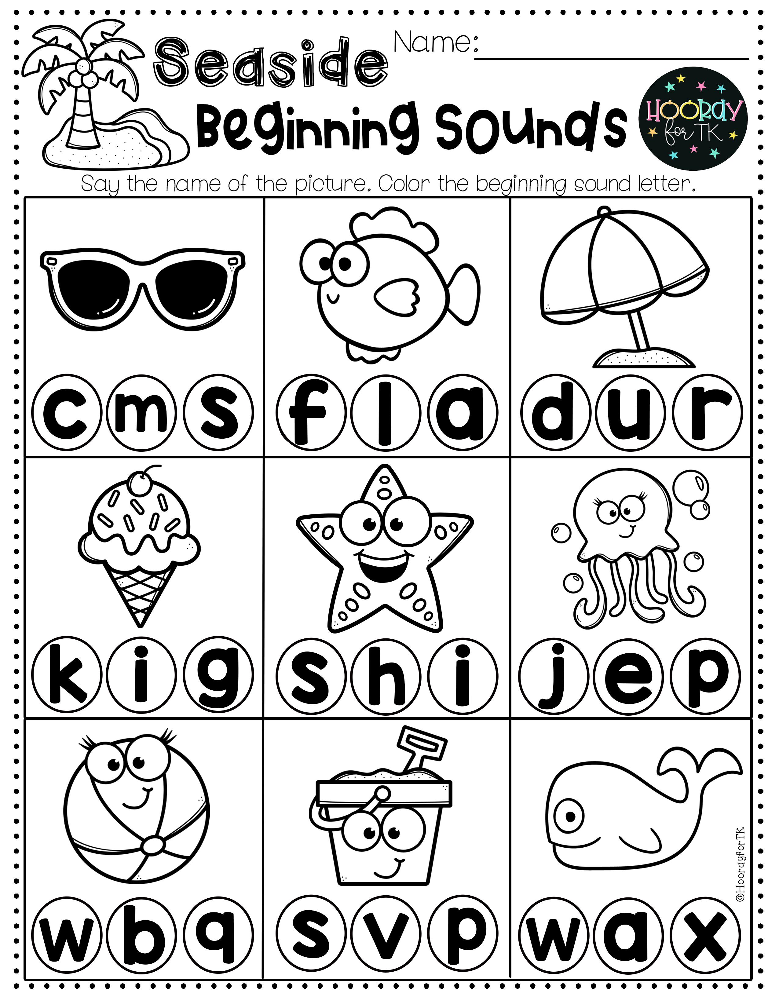 Transitional Kindergarten Summer Worksheets