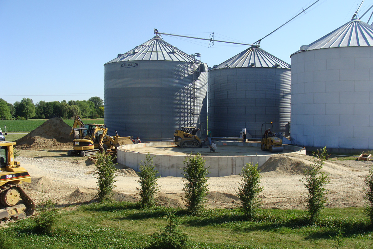 Grain Bin Foundations by Hoosier Agri-Matic