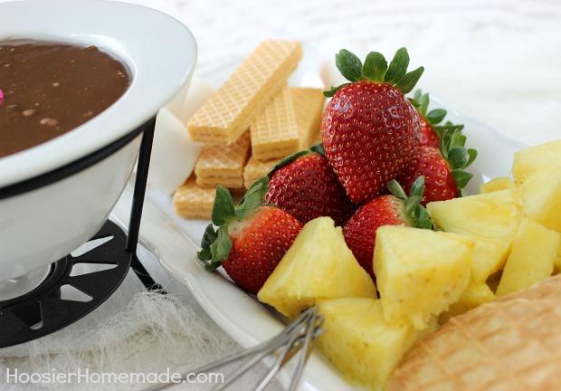 Easy Chocolate Fondue Hoosier Homemade