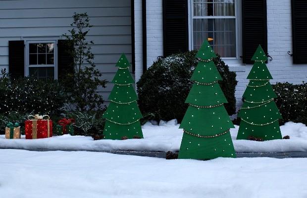 DIY Lighted Holiday Yard Tree Hoosier Homemade