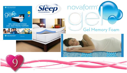 Novaform Gel Mattress TopperGrateful Giveaways 9