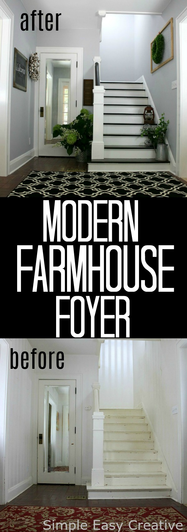 Modern Farmhouse Foyer Makeover Hoosier Homemade