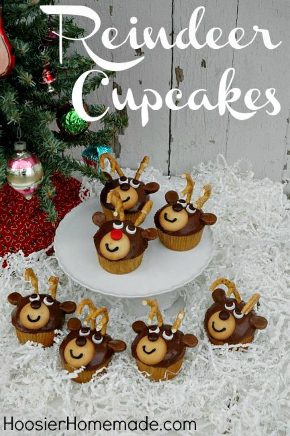 Christmas Reindeer Cupcakes Homemade Holiday Inspiration