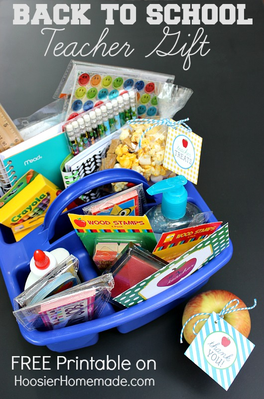 First Day of School Teacher Gift :: Printables on HoosierHomemade.com