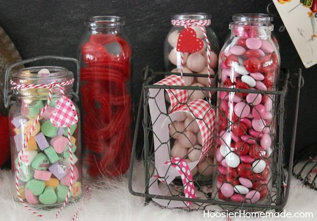 Valentines Day Mantel Hoosier Homemade