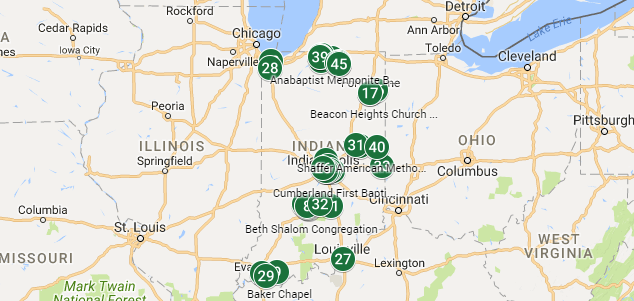 Where are Indiana's Solar Congregations?