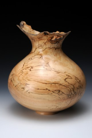spalted maple natural edge vase