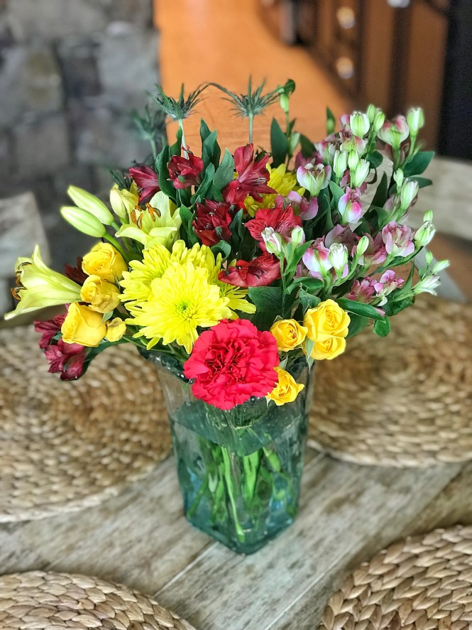 Fresh Summertime Flowers Centerpiece