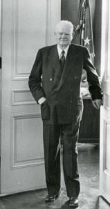 Former President Herbert Hoover in his office, 1957.