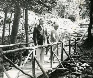 President Hoover and First Lady Lou at Camp Rapidan, ca. 1930.