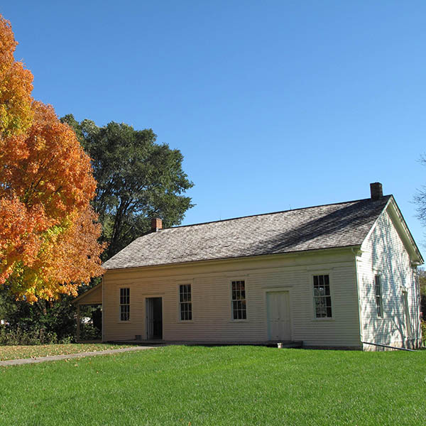 The Quaker Meeting House on the grounds of the Hoover National Historic Site. Oct. 2018