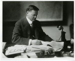 ca.1921 Secretary of Commerce Herbert Hoover.