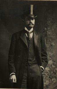 Herbert Hoover dressed for job interview. ca.1899