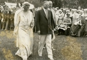 President and Mrs. Hoover were host to the annual garden party for disabled veterans on the White House lawn. 06/17/1932