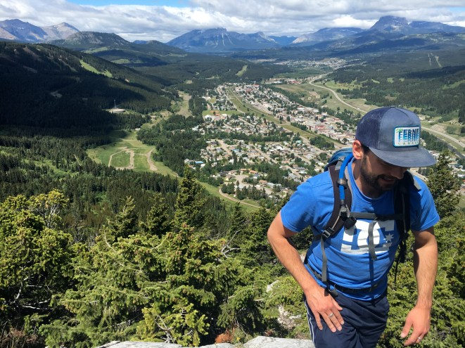 View of Blairmore early in the hike