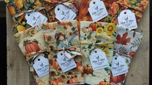 autumn cotton napkins