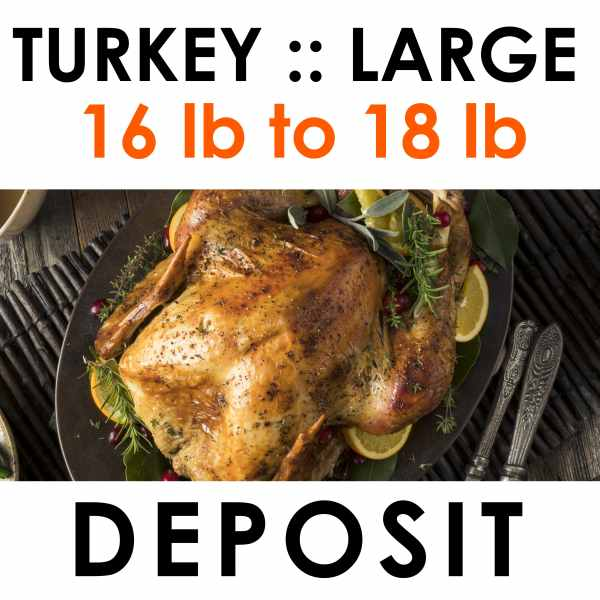 large turkey deposit