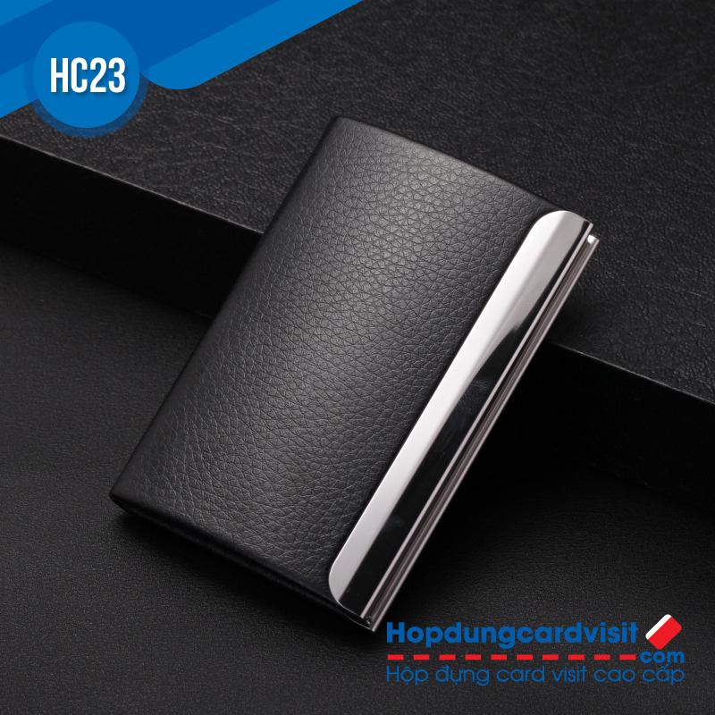 Hop dung name card cao cap bang da HC23