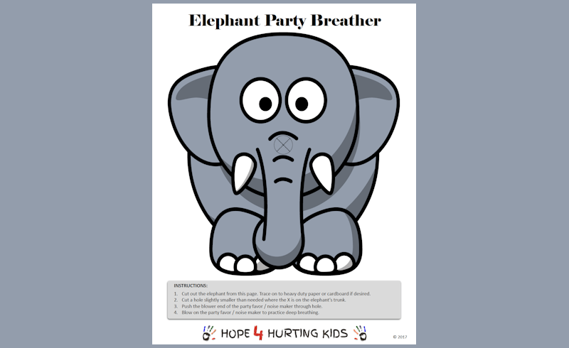 Elephant Party Breather - Hope 4 Hurting Kids