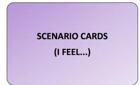 Scenario Cards (I Feel)
