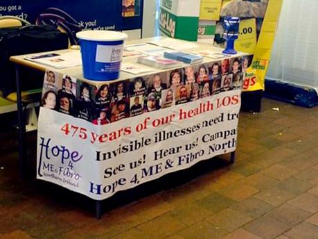 Raising awareness. at Tesco, in Lurgan