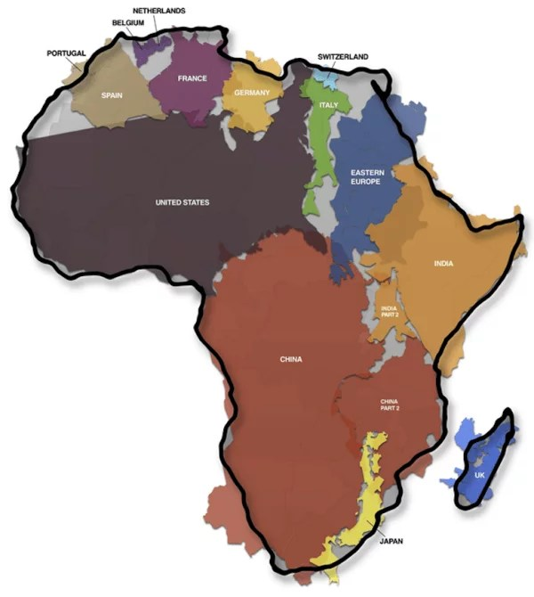 how big africa is