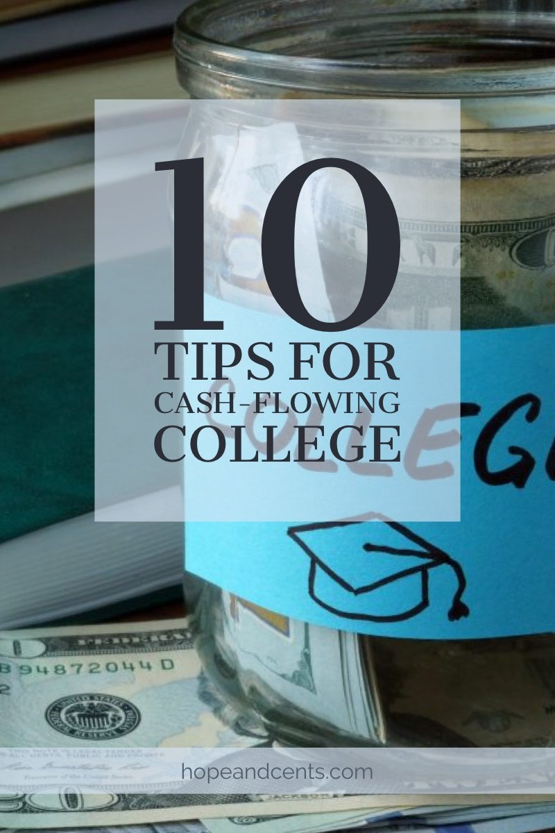 Yikes, your high schooler is knocking on college's door and what you have saved wouldn't send them to clown school. Many parents — myself included — find themselves in this exact or similar position. Here are some great tips for cash-flowing college and graduating debt-free. #collegetips #debtfree #money #personalfinance