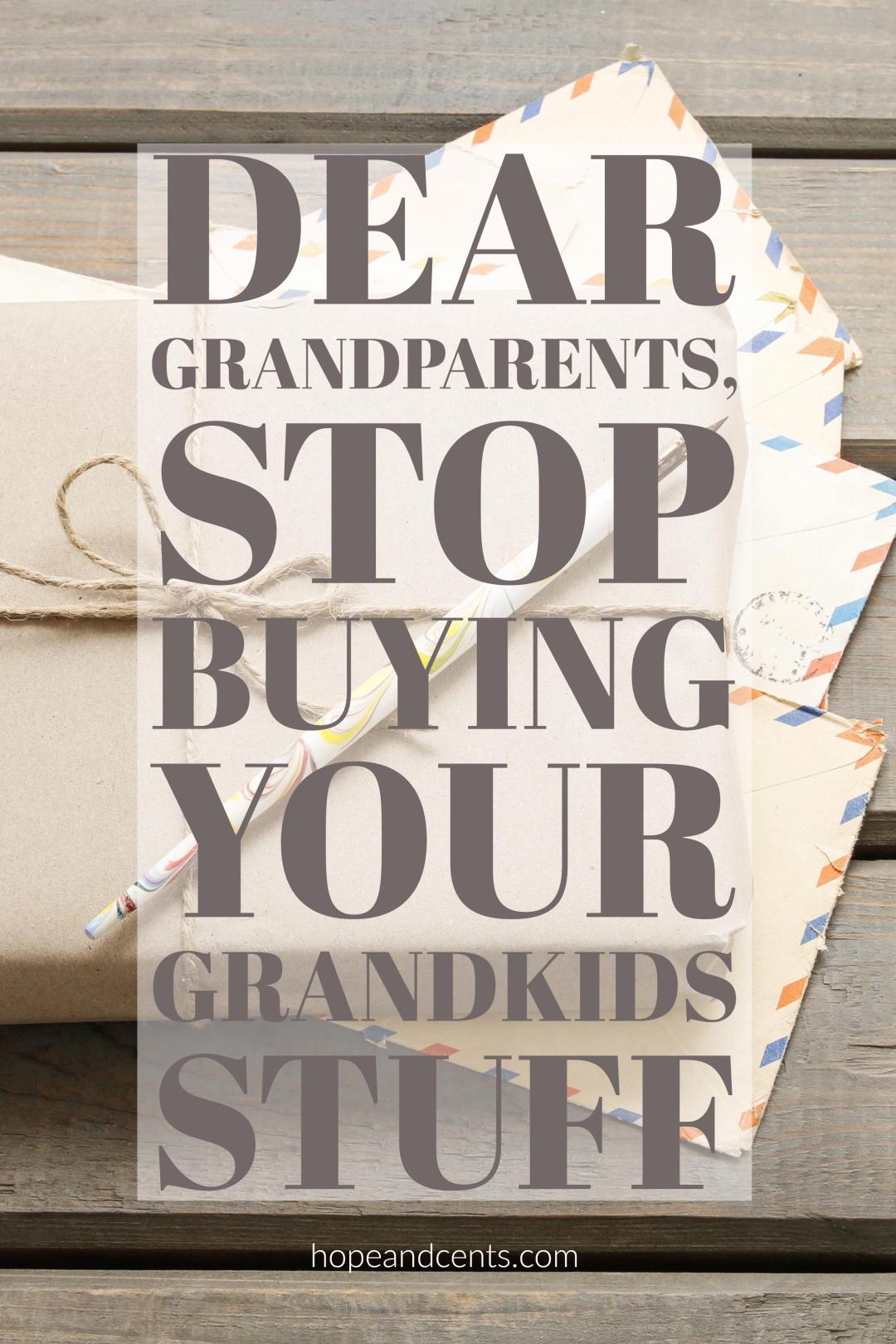 Buying stuff for grandkids is fun — for everyone involved, but with college getting more and more expensive and the student loan crisis worsening, is there a better way for grandparents to spoil their grandkids? If you are a parent or a grandparent maybe the kids could use less stuff and more funding for college. | saving for college | saving money for college | going to college debt-free | paying for college |  debt-free living | money saving tips #money  #personalfinance