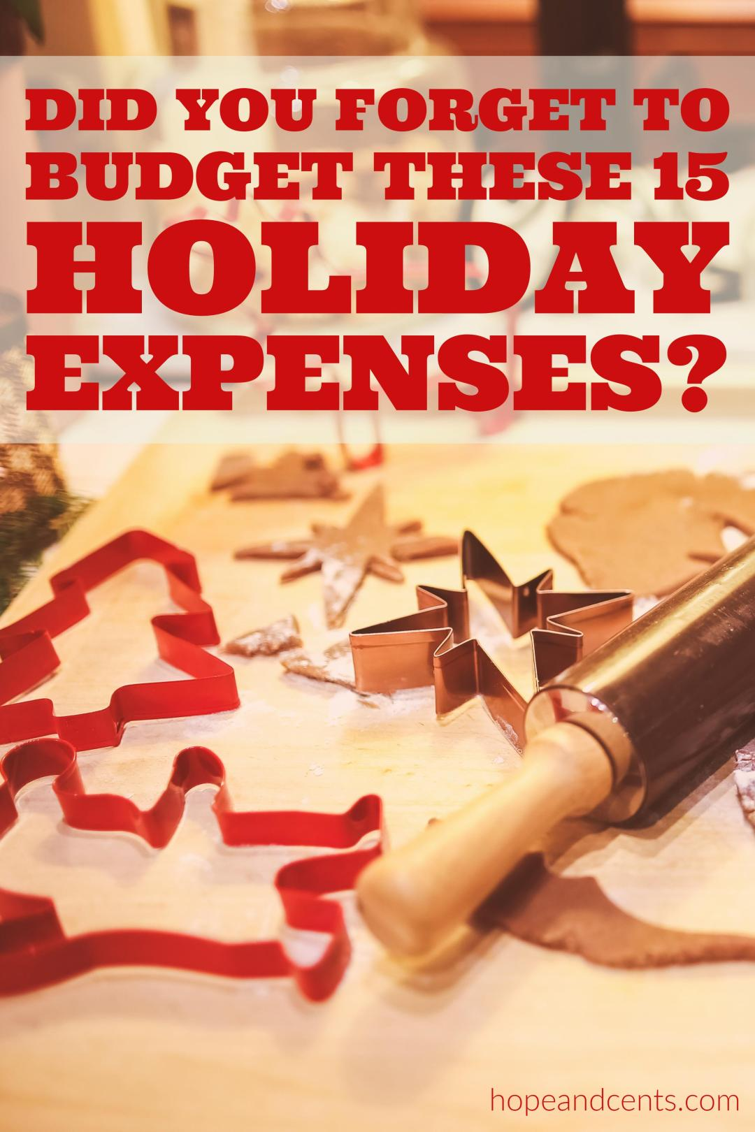 Did you do your Christmas budget? Here are 15 holiday expenses we tend to overlook. Read this to help you stick to your budget.