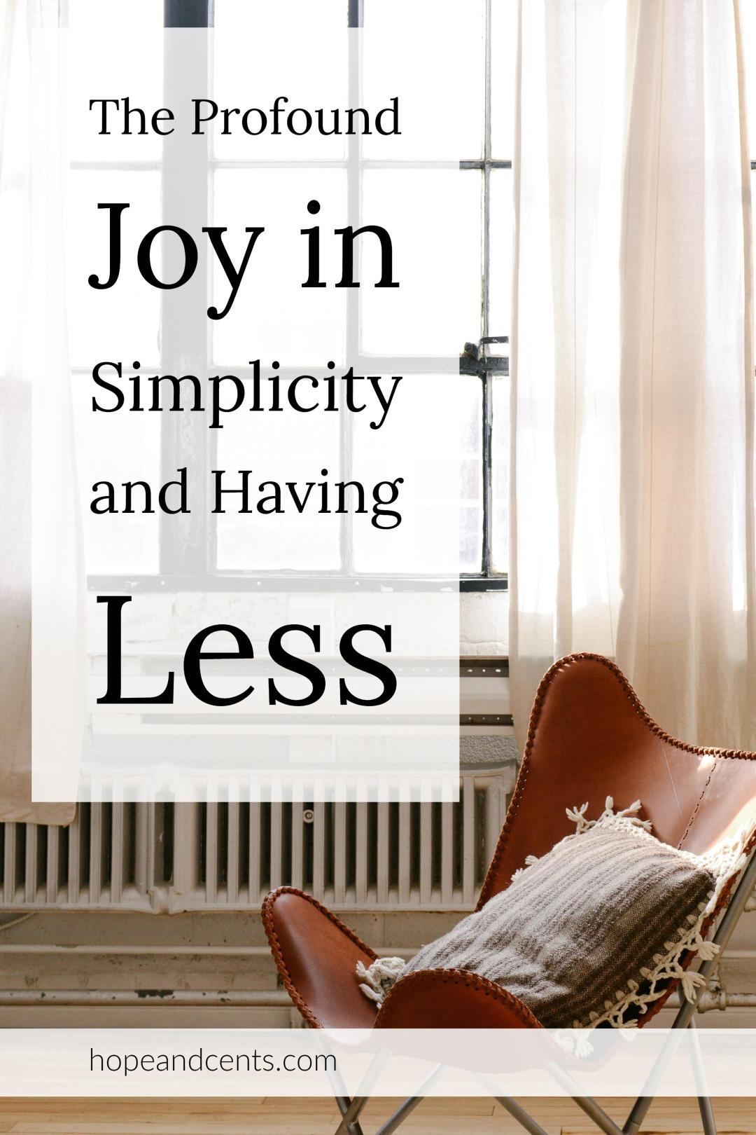 Are you bombarded with images and thoughts of stuff? Less is not only more, less is enough. There is joy in simplicity and simple living. #simpleliving #minimalism # minimalist #livingwithless